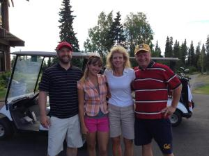 The Best Golf Team around! Hunter, Jessie, Me and Dave.