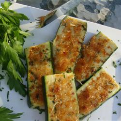 Grilled Garlic Parmesan Zucchini