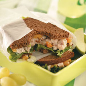 Cashew Turkey Salad Sandwich